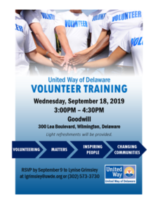 Volunteer Training Flier